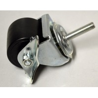 "2"" x 1 5/8"" Threaded Stem, Stem 3/8- 16 x 1 1/2"" - Locking Caster - Duraplas Wheel"