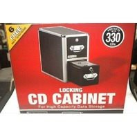 Vaultz Locking CD Cabinet - Protects up to 330 CD's - New - With small ding