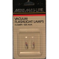 Mini-Mag lite Vacuum Flashlight Lamps - Size AAA