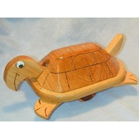 WOODEN TOY TURTLE