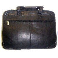 HI-PRO Genuine Leather Business Case - Black- 1