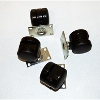 "1"" Caster Set -  4 PC SET - Each caster has 25# rating."