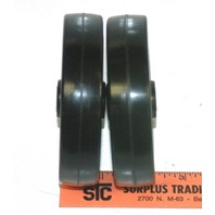 "4""x7/8"" 1/4""I.D. black Non-mar wheel set of 2"