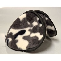 Ear Muffs Winter Warmers Black/Gray/White Color - New