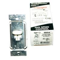 Legrand SSSC5-W Short Slide Fan Speed Control Switch 5A 120V w/grnd side/back