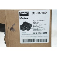 Dayton 115V 1/20HP, 1.8A, 1550 RPM Thermally Protected