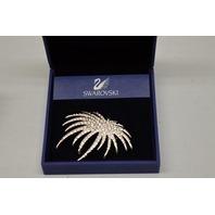 Swarovski Fancy Brooch #1805557 - Rhodium-plated - Clear Crystals 6 x 5 cm