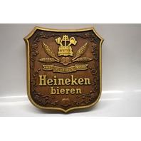 """Heineken bieren hanging beer sign - Vintage - 11 1/2"""" x 12"""" x3/4"""""""