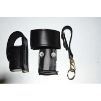 Law Pro - Leather Holder for Police: Radio, Spray and Key.