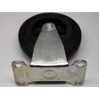 """Integra Design 4"""" x 1"""" Rubber on Poly Ind. Casters - 2 Swivel/2 Rigid - 4 Pcs - 135 lb capacity per caster."""