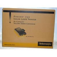 Phaser 750 Color Laser Printer Yellow Toner Hi-Capacity Cartridge No. 016-1802-00 Tektronix