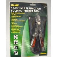 Hawk 13-in-1 Multi Function Folding Pocket Tool #TP1071