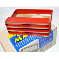 """Powerful Handle Magnet Lifts Up To 150 lbs. Red Handle, 2""""Wx5 1/4""""Lx4""""T. #07210"""