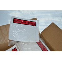 "1000 pcs 4 1/2"" x 5 1/2"" Clear Pouches w/ Packing List Enclosed on front of each."
