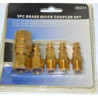 5 Pc. Brass Quick Coupler Set #30231