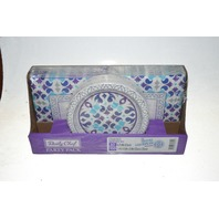 Daily Chef Party Pack - 50 plates and 100 napkins - Purple and Blue Design.