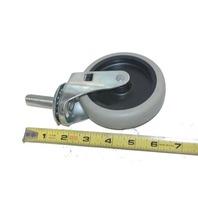 "4"" x 1""  4 piece set -  Swivel Thermoplastic Wheel Casters Threaded stem 1/2-13 x 1.2"" #30771"