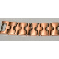"""Magnetic Copper Link Bracelet - 8 1/2"""" long - 19 strong magnets - Men or Women."""
