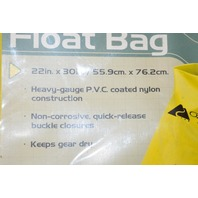 OZARK TRAIL YELLOW FLOAT BAG WATERPROOF BAG TO KEEP YOUR CAMPING GEAR DRY 22X30""