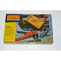 Omaha 5 pc Electric Test Kit #70950 all fit into a zippered pouch.