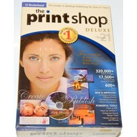 Broderbund The Print Shop Deluxe Version 21 - Unopened - 4 CD set.