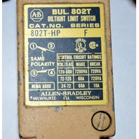 Allen-Bradley 802T-HP Ser F Oiltight Limit Switch.