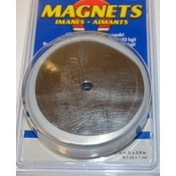 "Round Magnet Lifts upto 95 lbs, 3 3/16"" Dia x 3/8"" Thick - #07223w/cover"