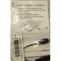 Dell Composite TV-Out Adapter Cable 07309P Rev: A02 (NIP)