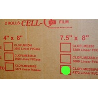 "Cell-O EZ Film  Part #CLOFLMEZ88PB  7.5"" X 8""  4372 LINEAR FOOT"