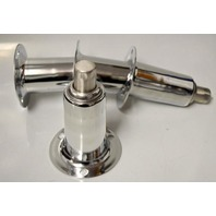 "6"" Adjustable Chrome Legs for Kitchen Equipment w/SS bullets HD. -  4 Legs."