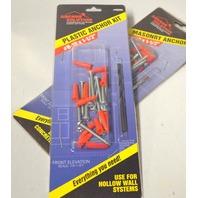 "Anchor Solutions - #58204 Plastic Anchor Kit #8-10 x 1 1/2"" - 2 Kits"