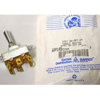 Barnes #KP152035  DPST ON-OFF-ON Toggle Switch