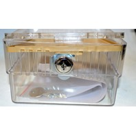 Lockable Thermostat Cover 6.5x4.25x5.75 Clear with key 13G330
