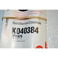 Gates K040384 - Alternate Number 4PK976 - Micro V Belt - New Old Stock