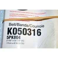 Gates K040316 -Alternate Number 5PK804 - Micro-V Belt - New Old Stock