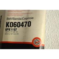 Gates K060470 - Alternate #6PK1197 - Micro-V Belt - New Old Stock