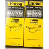 20 - Encon Veratti 1400 Series Clear PLastic Safety Glasses.