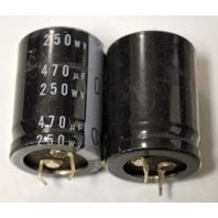 Nichicon Snap in Capacitor - 2 pc - CE 85*C, 470 uF, 250 WV