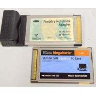 1-3Com 10/100 Lan CardBus PC Card 3CXFE5758BT 1-Firewire Notebook Adapter F81527-A