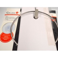 GRiiPA #3857  Stainless Steel Towel Ring. Friction...stronger than suction.