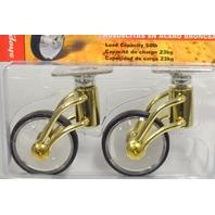 "Shepherd #3353  2"" Designer Brass Wire Plt Mt Caster ""Carolina"" 50 lb cap per. 2 Pk."