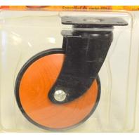 "Shepherd #3562 - 3 1/2"" Tapered Wood Wheel Caster,Plate Mt, 100 lb cap per. 1 Pc."