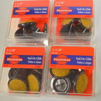 """Madico by Faultless #31919-Nail-On  1 1/4"""" Carpet glides. 4 pc per pack - 4 packs."""
