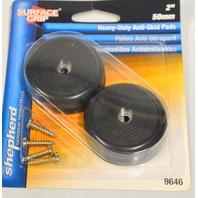 """Shepherd #9646 Surface Grip 2"""" Heavy Duty Anti Skid Pads - Black - 1 4 pack."""