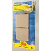 "Shepherd #3949 - 4 pc. - 2"" Square Adhesive Furniture Slide Glides."
