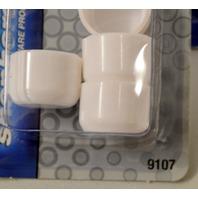 """Shepherd #9107 3/4"""" Plastic Leg Tips- 4 per pk - 4 packs - White"""