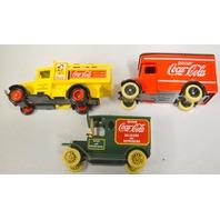 3 Lledo/Matchbox Coca Cola Model Trucks - Made in England, DG20,DG6-8-33,DG16