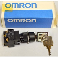 Omron A3GT-K9C11-C (A) Keyed Selector Switch
