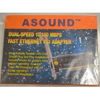 Asound #PG1C2112036 Dual Speed 10/100 MBPS Ethernet PCI Adapter