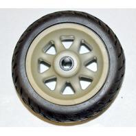 "1 - 3"" x 1 3/4"" x 1/4"" Solid Rubber on Plastic Hub Wheel"